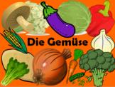 German Vegetable Vocabulary - 30 sildes!