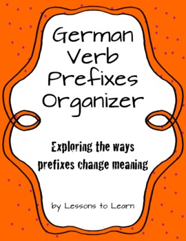 German Verb Prefixes Organizer