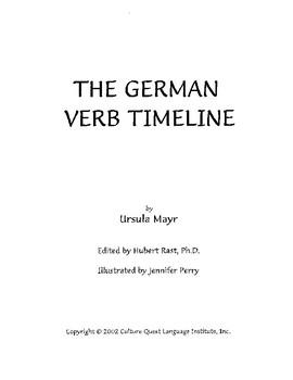 German Verb Timeline - Teacher's Manual