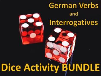 German Verbs Dice Activities / Games