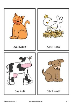 German Vocabulary 5: Animals