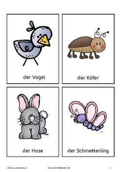 German Vocabulary 5: Animals