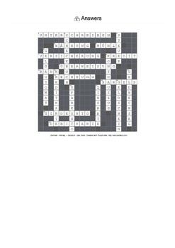 German Vocabulary - Money Crossword Puzzle