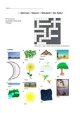 German Vocabulary - Nature Crossword Puzzle