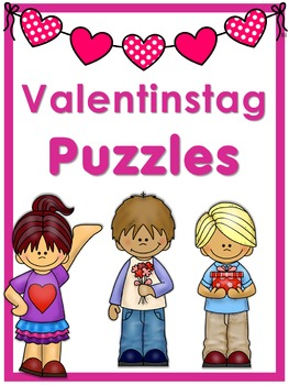 German Vocabulary Puzzles Valentinstag By Little Helper Tpt