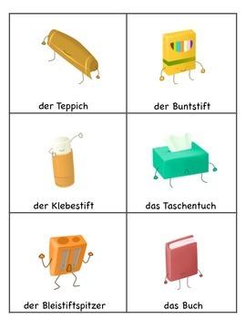 German Vocabulary, School (Flashcards and Activities)