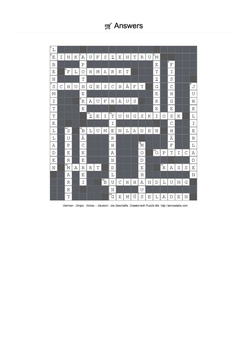 German Vocabulary - Shops and Stores Crossword Puzzle