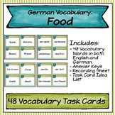 German Vocabulary Task Cards - Food
