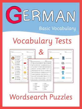 German Vocabulary Tests and Wordsearch Puzzles