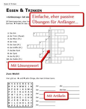 German Vocabulary Words Food