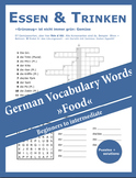 German Vocabulary Words Food