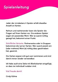 German WORTSCHATZ Spiel / game: guess a word quickly, DAF, Deutsch lernen, Spiel