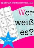 German WORTSCHATZ Spiel / game: guess a word quickly, DAF,