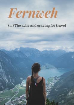 German Wanderlust and Fernweh Posters