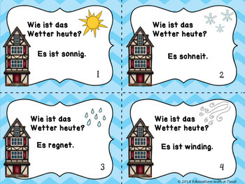 German Task Cards Weather