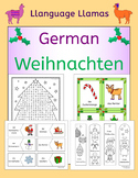 German Christmas Weihnachten vocabulary activities, puzzles, games, cards