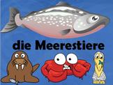 German Sea Animals Vocabulary - 40 sildes!