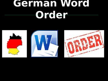 German Word Order