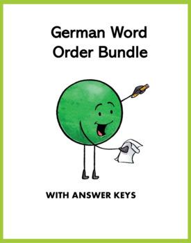 German Word Order Mini Bundle: 1 Handout and 7 Worksheets @35% off!