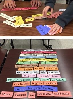 German Word Order - Time (and Place) Activity