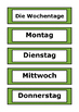 German Word Wall - Days of the Week, Months of the Year, Seasons