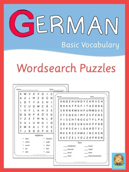 German Word Search Puzzles