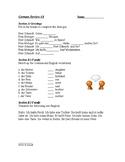 Beginner German: 5 Worksheets for Review (Version 1)
