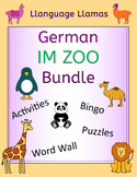 German Zoo Animals Bundle - Im Zoo Activities, Puzzles, Word Wall and Bingo