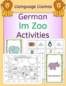 German Zoo Animals - Im Zoo - Activities Pack - die Tiere
