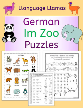 German Zoo Animals - Im Zoo - Puzzles Pack