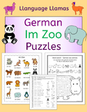 German Zoo Animals - Im Zoo - Puzzles Pack - die Tiere