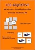 100 German adjectives -  100 Deutsche Adjektive, level A1-A2