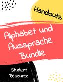 German alphabet and pronunciation BUNDLE
