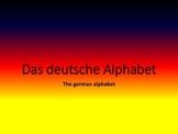 German alphabet using animals