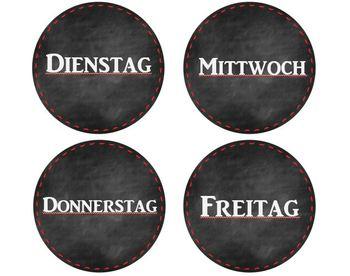German and English Calendar Printables