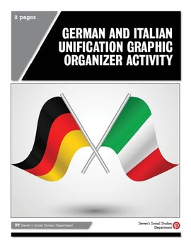 German and Italian Unification Graphic Organizer Activity