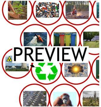 German, auf Deutsch - Environment, Umwelt: PPP, cards, board game