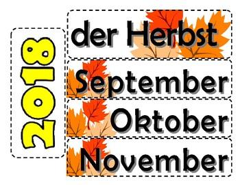 German calendar - wall magnet calendar