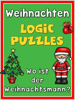 German Christmas  Cut and Paste Logic Puzzles