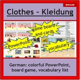 German - clothes, Kleidung: dice game to practice speaking