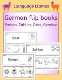 German colors, numbers, fruit, vegetables - fun flipbooks