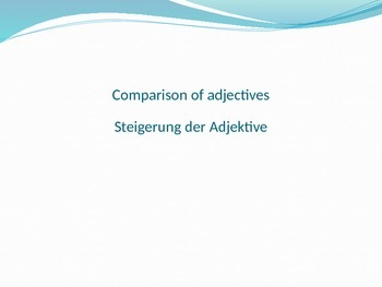 German comparison of adjectives notes