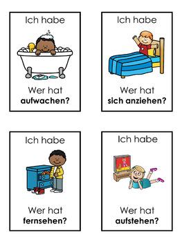 German daily routine  Ich habe ... Wer hat ...? game