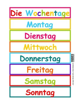 German days of the week - D... by Learn German With Fun | Teachers ...