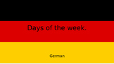 German days of the week (English to German)
