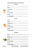 German description of animals, level A1, starters