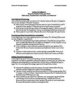 German for Heritage Learners / Speakers GfHS GfHL L1-3