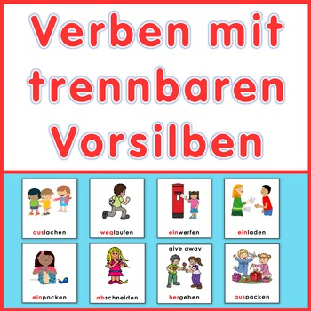German games plus task cards,  verbs with separable prefixes