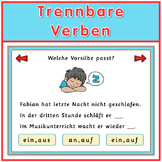 Free German Game  trennbare Verben
