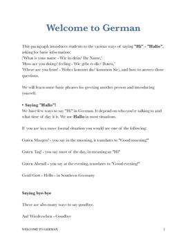 German greetings